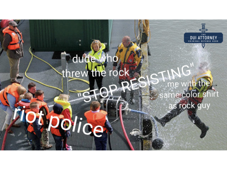 funny protesting meme man gets hosed off a boat